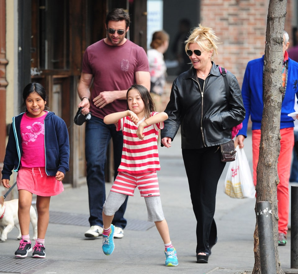 Hugh Jackman Out With His Family In NYC