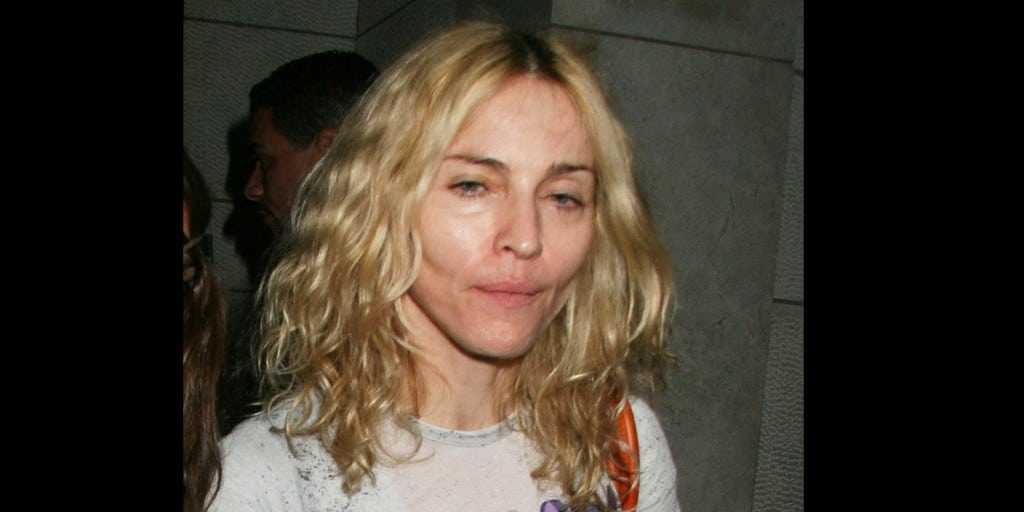 Madonna without make-up