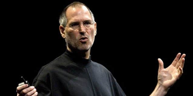 Steve Jobs, Apple's chief executive officer, speaks at the compa