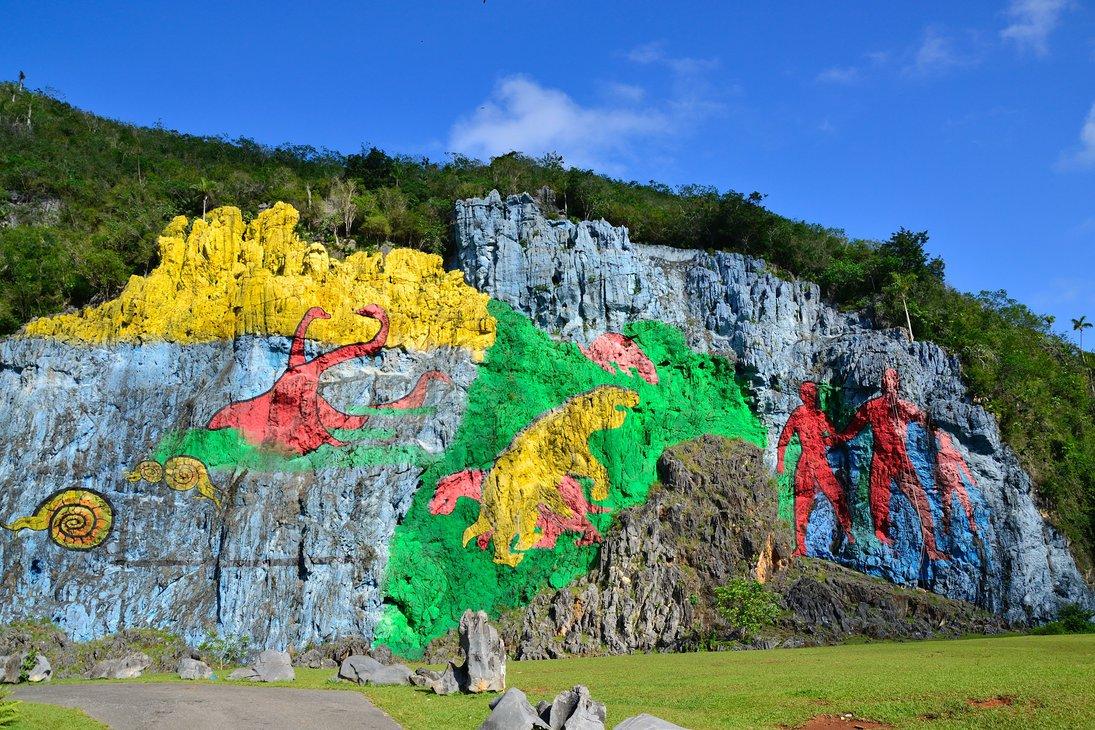 The Prehistoric Wall (Mural de la Prehistoria), near Pinar del Rio, Cuba1