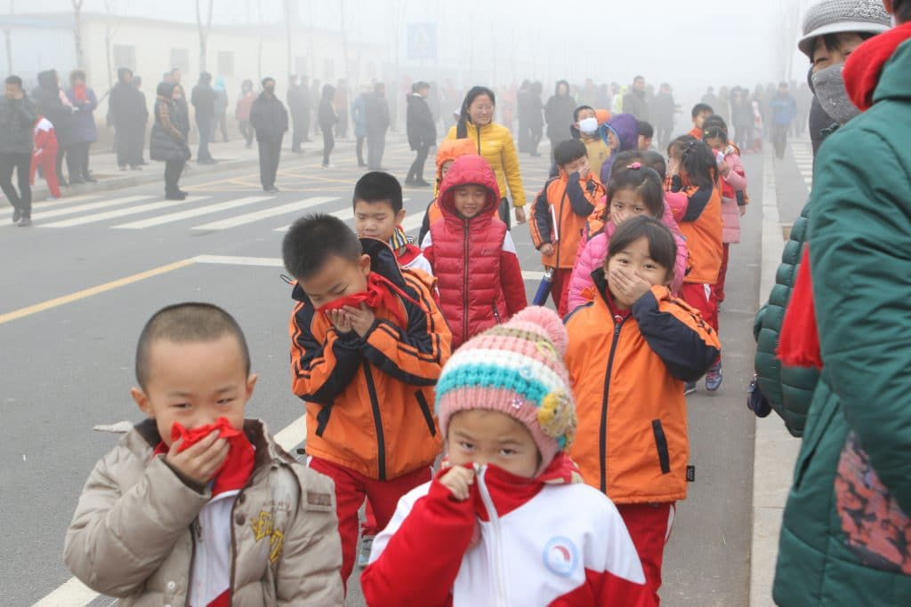Air Pollution Hits Parts Of China
