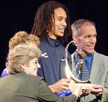 Brittney Griner accepting Wade Trophy 2.jpg
