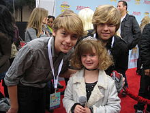 Dylan and Cole Sprouse with Piper.jpg
